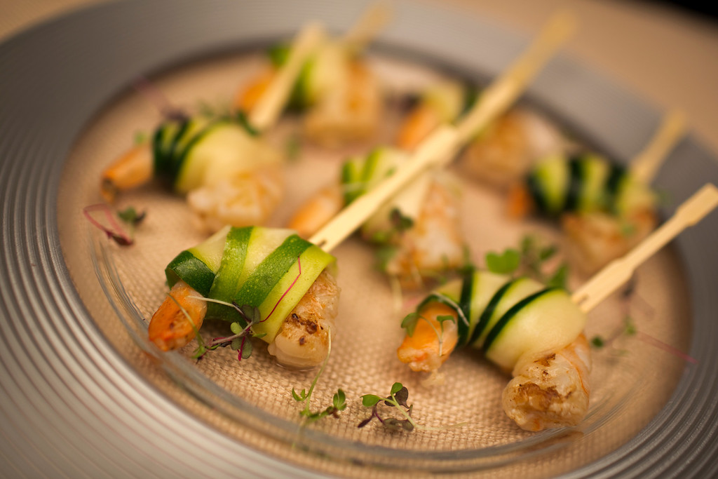 Shrimp and zucchini for your Cape Cod wedding reception by The Casual Gourmet. - Home - The Casual Gourmet, Cape Cod Wedding Caterer