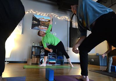Broga Yoga Class