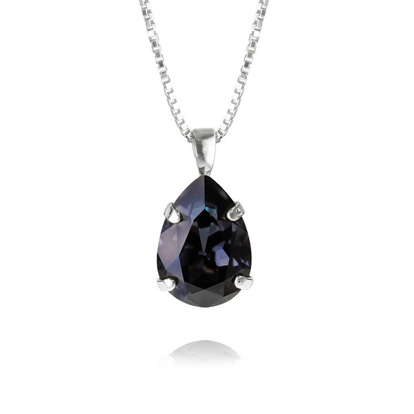 Classic Drop Necklace : Graphite-rhodium.jpg