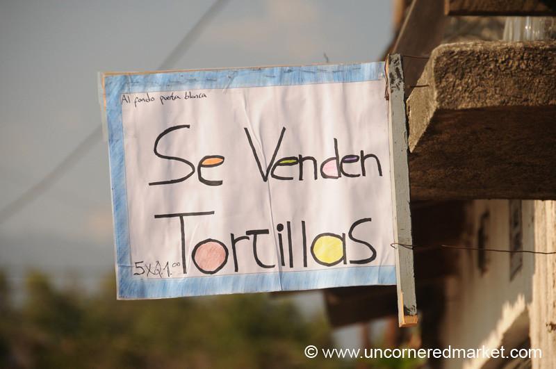 Tortillas for Sale - Antigua, Guatemala