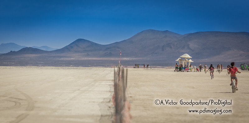 The fence, Burning Man's boundary.
