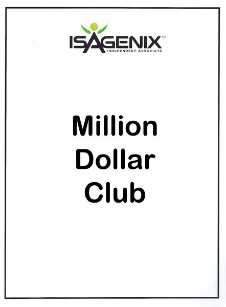 Isagenix Million Dollar Club and Top Bonus Folks