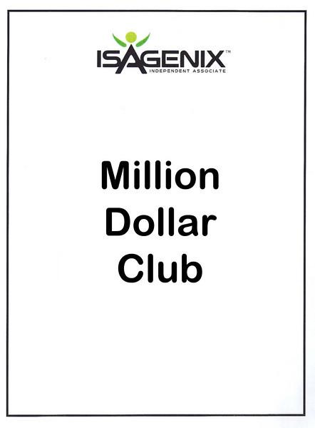 Isagenix Million Dollar Club and Top Bonus Folks