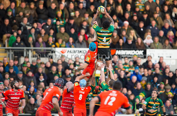 Northampton Saints vs Leicester Tigers, Aviva Premiership, Franklin's Gardens, 20 December 2014