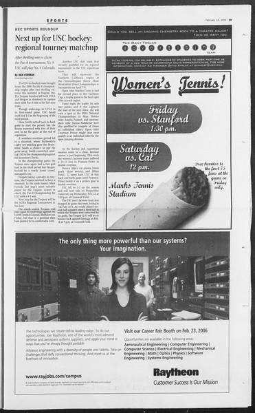 Daily Trojan, Vol. 157, No. 26, February 16, 2006