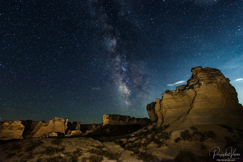 August: Castle Rock Badlands Milky Way