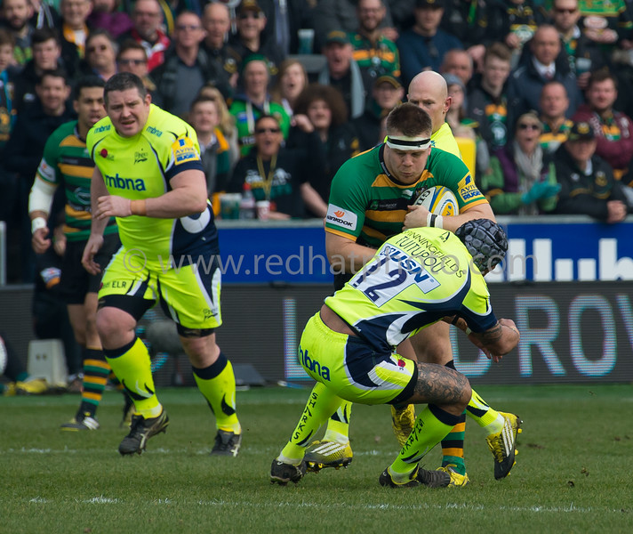 Northampton Saints vs Sale Sharks, Aviva Premiership, Franklin's Gardens, 12 March 2016