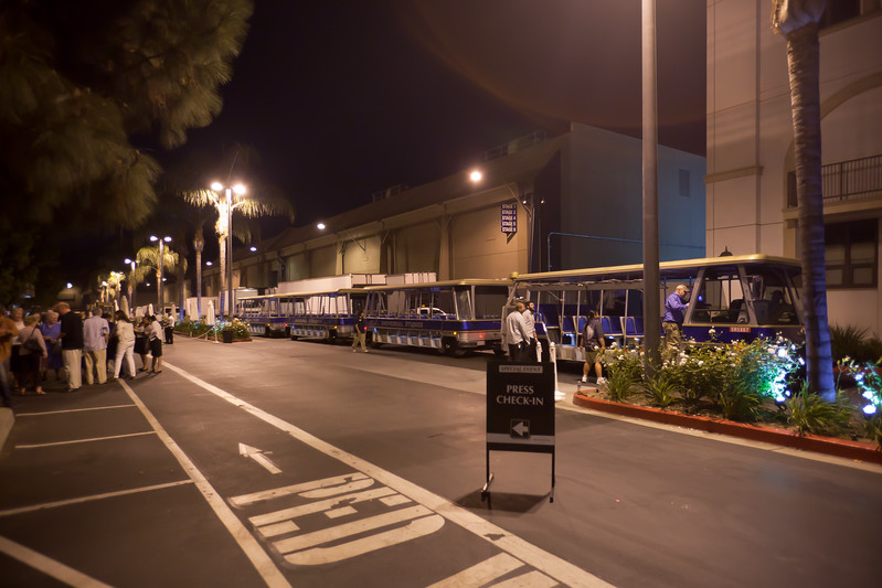 The Tour Tram drops us off in front of the parking structure