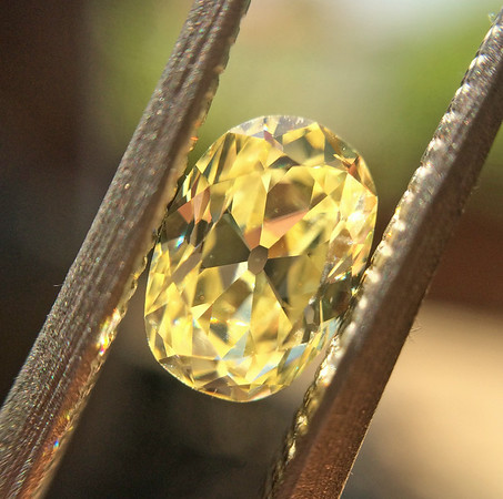 .79ct fancy Yellow Antique Oval Cut Diamond