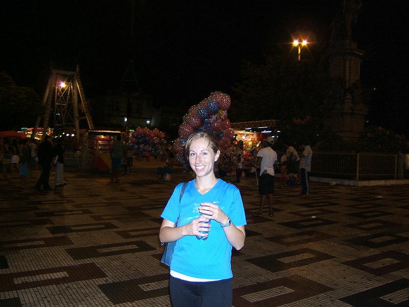 Day 1 - Manaus - No, that's not a hat, it's a bunch of balloons behind me.