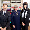 WARNING: Embargoed for publication until 00:00:01 on 10/05/2016 - Programme Name: The Great British Sewing Bee - TX: n/a - Episode: n/a (No. Generics) - Picture Shows: (L-R) Patrick Grant, Esme Young, Claudia Winkleman - (C) Love Productions - Photographer: Charlotte Medlicott