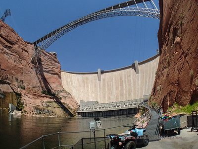 Glen Canyon Dam and Colorado River July 2013