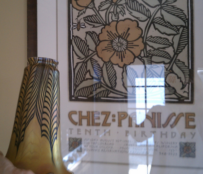 This is serendipitous how the design on the shade reflects that in the Chez Panisse poster, or is this not a coincidence?