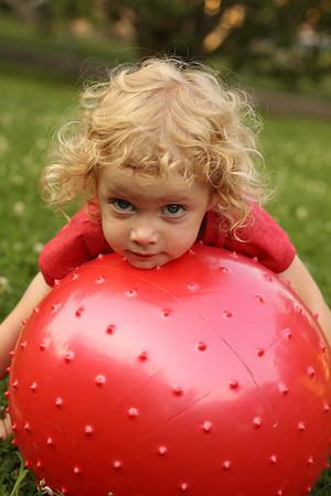 7-27-2009 Kaylie on Bounce Ball