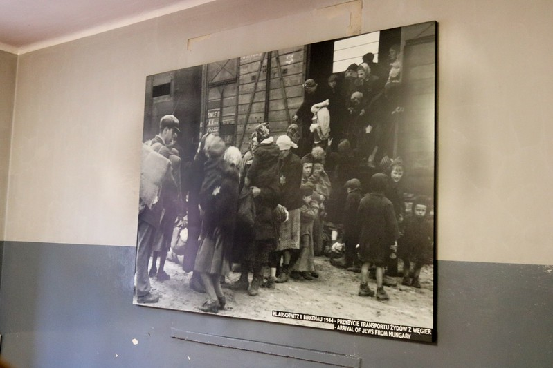 Hungarian Jews arrive in Birkinau in 1944. The end of the line, literally, for them.