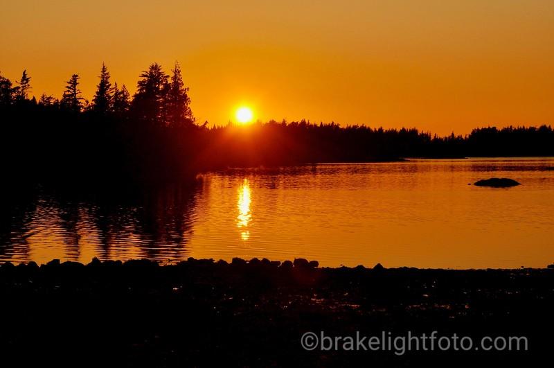 Sunset in Higgins Passage