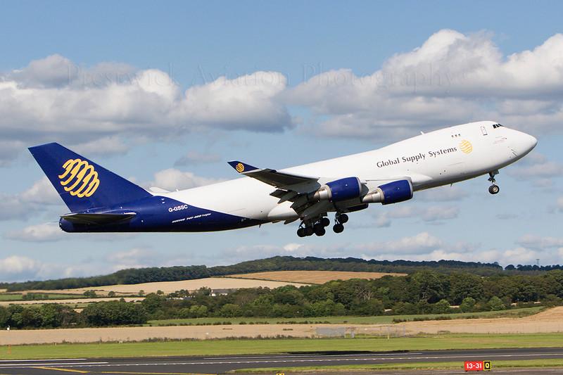 G-GSSC. Boeing 747-47UF/SCD. Global Supply Systems. Prestwick. 090807.