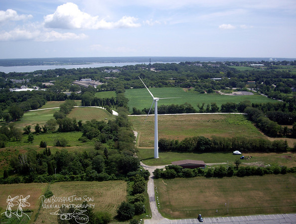 Portsmouth Abbey and Wind Turbine