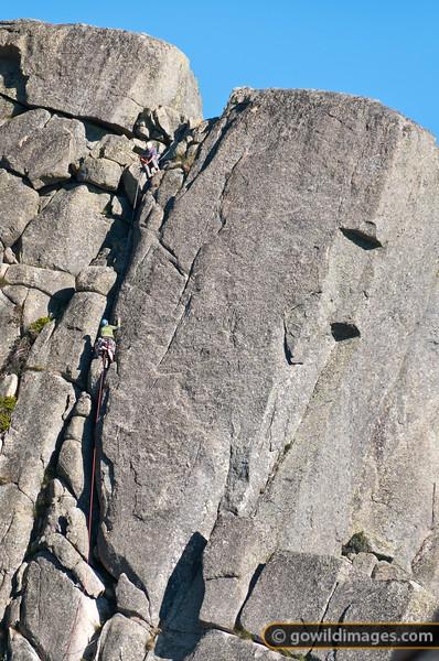 Rock climbers near The Horn, Mt Buffalo