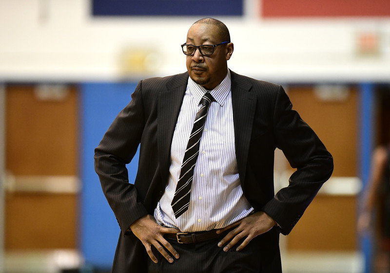 1/19/2019 Mike Orazzi   Staff CCSU's Donyell Marshall during Saturday's Men's basketball game with Saint Francis University in New Britain.