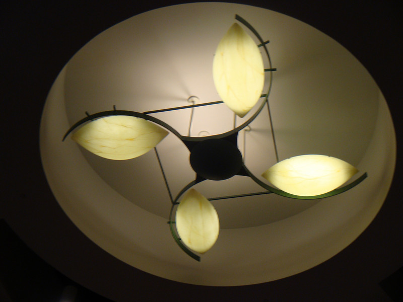 The ceiling lights caught my eye. Sorry.