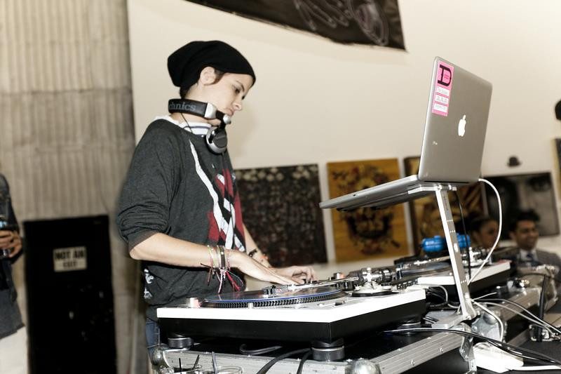 Celebrity DJ Samantha Ronson at the BRANDED ARTS event.