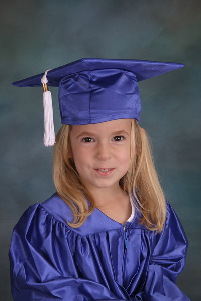 Violet's first cap and gown.