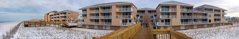Starboard Village  This is the condo we stayed at.  If you look at the first floor balcony on the left you may be able to see Chris sitting out in the morning air.