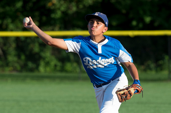 08/26/19 Wesley Bunnell | Staff The McCabe-Waters Astros defeated the Forrestville Dodgers 3-0 at Breen Field on Monday night in the city series to force a winner takes all on Wednesday. Dante DePasse (13).
