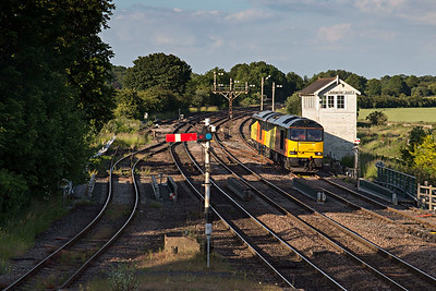 Colas 60085 & 60095 return home from Lindsey oil trains