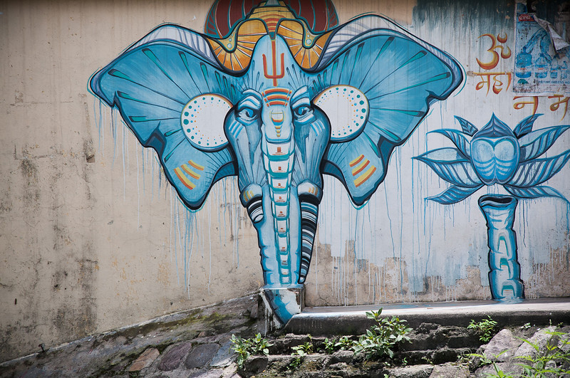 Street art in Rishikesh