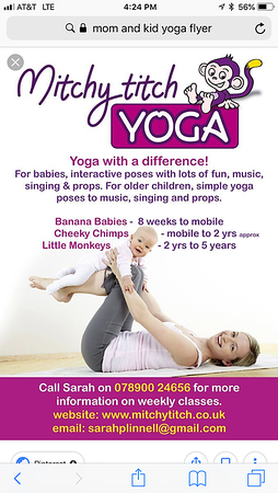 Mom and kid yoga related