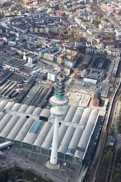 Luftbild Messe und Fernsehturm Hamburg