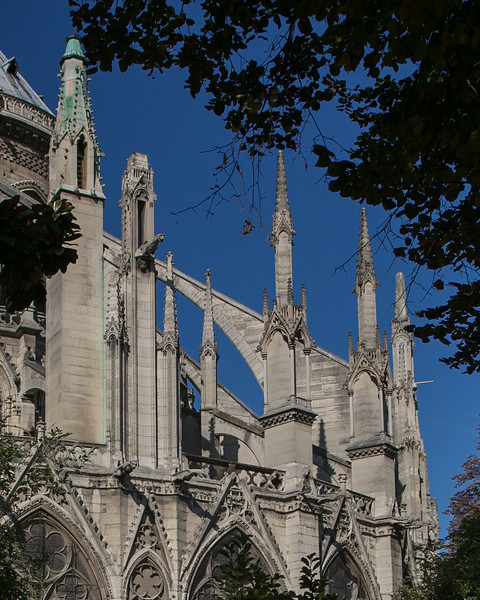 Paris, Notre-Dame Cathedral Choir Flying Buttress