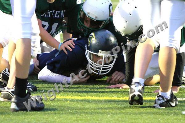 2010 09 28 Clarkston CJHS 8th Grade Blue Football vs Oakview