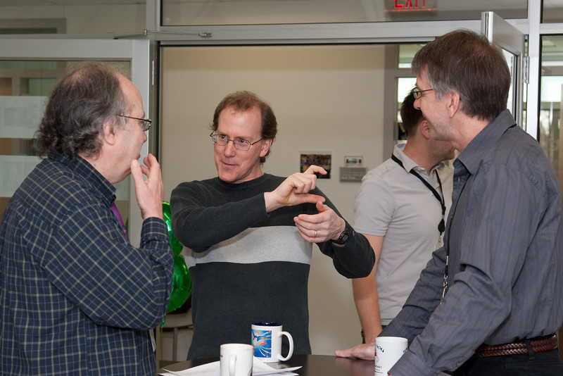 Steve Drake, Tod Strohmayer, George Sonneborn -- March 2011 new staff welcome coffee, Astrophysics Science Division, NASA/ Goddard Space Flight Center