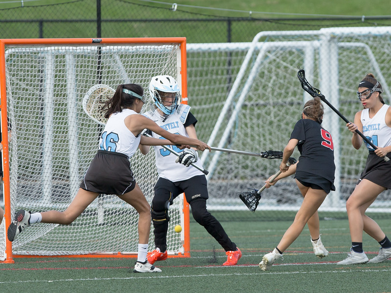Eleanor Roosevelt High could not contain the Dulaney scorers, including this goal by Mae Dickens. Dulaney prevailed 17-1. PHOTO BY MIKE CLARK