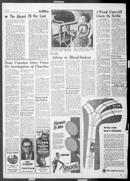 Daily Trojan, Vol. 44, No. 120, April 28, 1953
