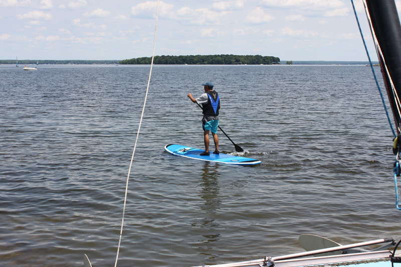 Trying out a Hobie paddel board