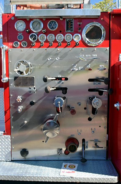 Approved Fire Apparatus Co-Ahrens Fox 1958 pump panel.JPG