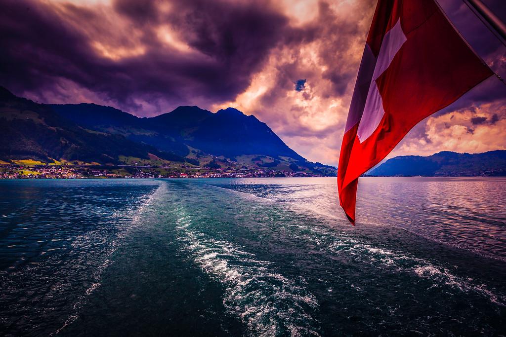 瑞士卢塞恩(Lucerne),云海起舞