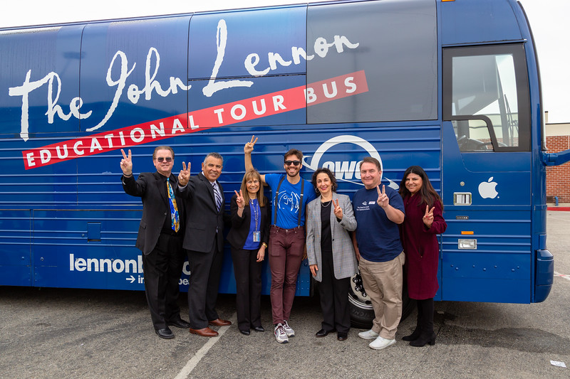 2019_02_01, Bus, CA, Exterior, Iris Levine, Josh Greene, Laura Solis, Michael Millar, OWC, Pomona, Pomona High School, Richard Martinez, Richard Wright, Roberta Perlman, Apple