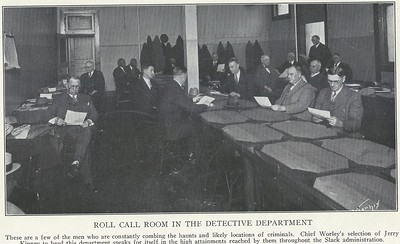 Roll Call Room Detective Office 1929