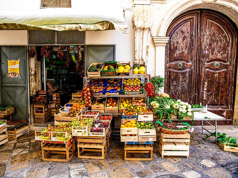 Fresh produce is everywhere...
