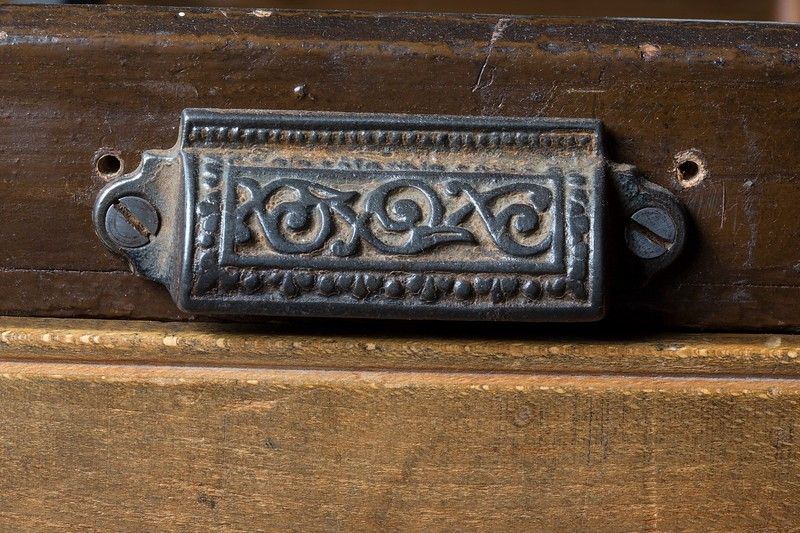Mid-19th century type drawer pull.
