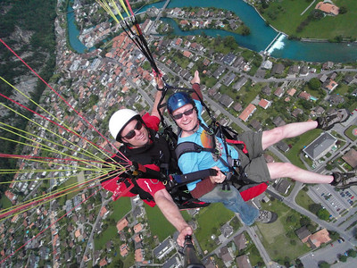 Paragliding, Interlaken, 14th June, 2009