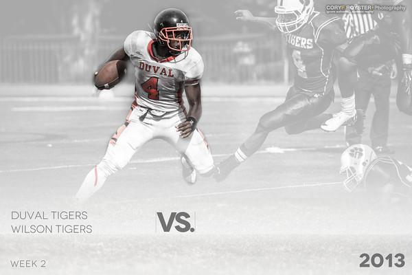 Football - DuVal Tigers vs Wilson Tigers 2013