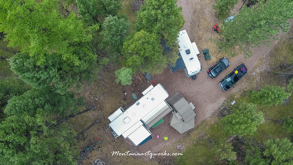 Drone Photos of our camp