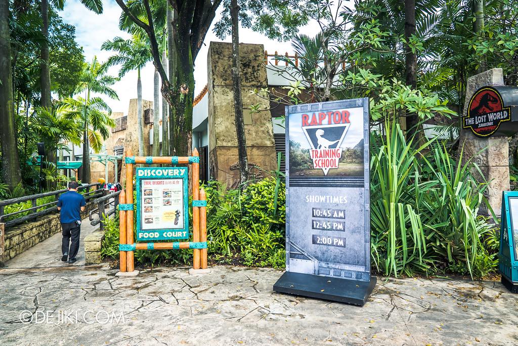 Universal Studios Singapore Park Update - Jurassic World Explore and Roar event - Jurassic World: Raptor Training School experience