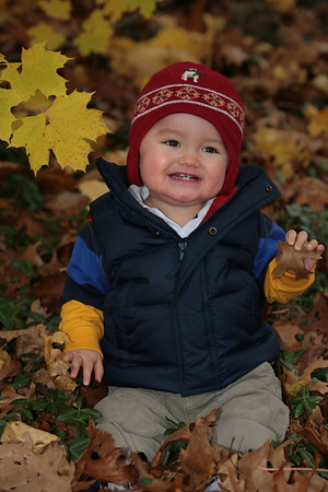 Justin and the Fall Leaves